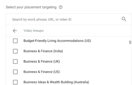 New YouTube Dynamic Lineups Video Campaigns